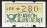 280 (Pf) Automatenmarke 1 gestempelt (BRD-ATM)