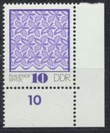 DDR 1963 postfrisch mit Eckrand rechts unten