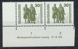 DDR 3345-DV1 postfrisch waagrechtes Paar mit Eckrand links unten
