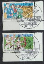 BRD 1127-1128 gestempelt mit Eckrand rechts unten