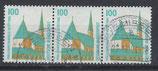 1406 gestempelt waagrechter 3er-Streifen (BRD)