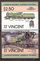 692-693 postfrisch (St. Vincent Eisenbahn)
