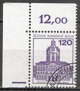 BERL 675 gestempelt Eckrand links oben (RWZ 12,00)