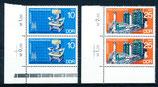 DDR 2023-2024 postfrisch senkrechtes Paar mit Eckrand links unten