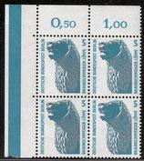 863 postfrisch Viererblock Eckrand links oben (RWZ) (BERL)