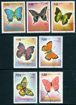 2717-2723 gestempelt (NI-Schmetterlinge)