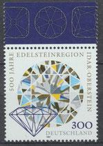 1911 postfrisch Bogenrand oben (BRD)