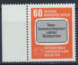 BERL 600 postfrisch mit Bogenrand links