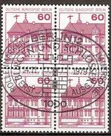 BERL 611 gestempelt Viererblock