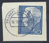 BRD 542 gestempelt auf Briefstück