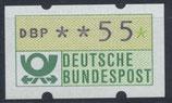 55 (Pf) Automatenmarke 1 postfrisch (BRD-ATM)