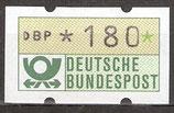 180 (Pf) Automatenmarke 1 postfrisch (BRD-ATM)