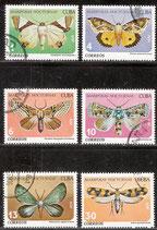 2397-2402 gestempelt (CU-Schmetterlinge)
