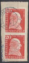 277  gestempelt senkrechtes Paar auf Briefstück (BRD)