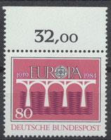 BRD 1211 postfrisch mit Bogenrand oben