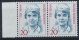 BRD 1365 postfrisch senkrechtes Paar mit Bogenrand links