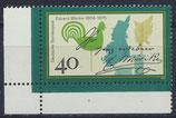 BRD 842 postfrisch mit Eckrand links unten