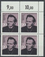 BRD 504 postfrisch Viererblock mit Eckrand rechts oben