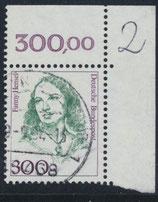 1433 gestempelt Eckrand rechts oben (RWZ 300,00) (BRD)