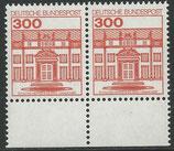 1143  postfrisch waagrechtes Paar mit Bogenrand unten  (BRD)