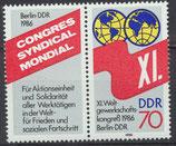 DDR 3049 postfrisch Zusammensdruck