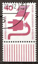 407 gestempelt Bogenrand unten (BERL)