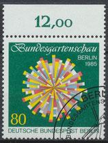 BERL 734 gestempelt mit Bogenrand oben (RWZ 12,00)