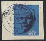 BRD 344 gestempelt auf Briefstück