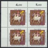 BRD 1192 postfrisch Viererblock mit Eckrand links oben