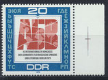 DDR 2444 postfrisch mit Eckrand rechts