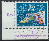 2180 gestempelt Eckrand links unten (DDR)
