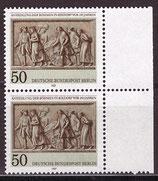 BERL 784 postfrisch senkrechtes Paar mit Bogenrand rechts
