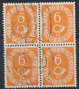 BRD 126 gestempelt Viererblock