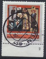 BERL 857 gestempelt mit Bogenrand unten und Formnummer 2