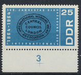 DDR 1055 postfrisch mit Bogenrand unten