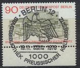BERL 577 gestempelt mit Sonderstempel und Bogenrand unten