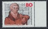 BRD 1284 postfrisch mit Bogenrand rechts