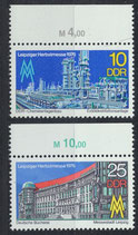 DDR 2161-2162 postfrisch mit Bogenrand oben