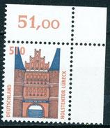 1938 postfrisch Eckrand rechts oben (BRD)