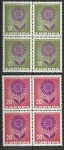 BRD 445-446 postfrisch Viererblock
