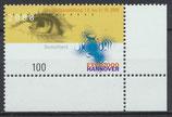 BRD 2089 postfrisch mit Eckrand rechts unten