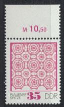 DDR 1966 postfrisch mit Bogenrand oben