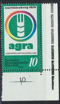 DDR 2428 postfrisch mit Eckrand rechts unten