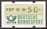 50 (Pf) Automatenmarke 1 postfrisch (BRD-ATM)