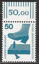 BERL 408 postfrisch mit Bogenrand oben (RWZ 50,00)
