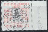 BRD 2098 gestempelt mit  Bogenrand rechts