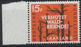 SAAR 431 postfrisch mit Bogenrand links