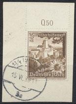DR 675 gestempelt mit Bogenrand  oben auf Briefstück