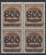 DR 305 A postfrisch Viererblock