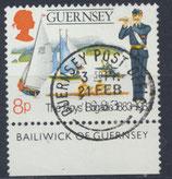 GB-GUE 260 gestempelt mit Bogenrand unten